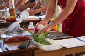 Ángel Rica, taller de sushi